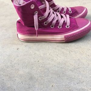 Converse Shoes - Girls size 12 Pink Converse High tops Shoes